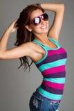 Mulher dos óculos de sol imagens de stock royalty free