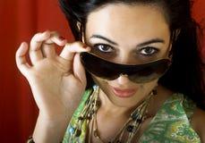 Mulher dos óculos de sol Fotos de Stock Royalty Free