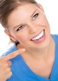 Mulher dos cuidados dentários Fotos de Stock