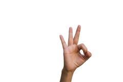 Mulher dos gestos de mão Imagens de Stock Royalty Free