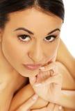 Mulher dos termas que olha com desejo na câmera Imagem de Stock Royalty Free