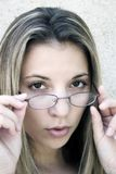 Mulher dos vidros fotos de stock royalty free