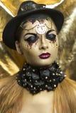Mulher dourada imagens de stock royalty free
