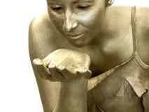 Mulher dourada Fotos de Stock Royalty Free