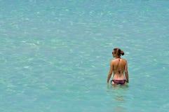Mulher e água fotografia de stock royalty free
