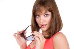 Mulher e óculos de sol 'sexy' Imagem de Stock