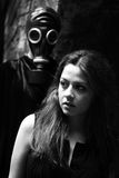 Mulher e assediador Imagem de Stock
