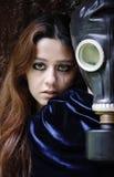 Mulher e assediador Fotografia de Stock Royalty Free