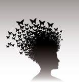 Mulher e borboletas Fotografia de Stock Royalty Free