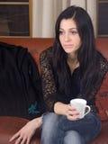Mulher e café Fotos de Stock