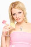 Mulher e cocktail Fotos de Stock Royalty Free