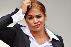 Mulher e confusão de negócio adulta Fotografia de Stock