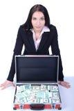 Mulher e dinheiro de negócio imagens de stock royalty free
