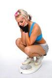 Mulher e escala Foto de Stock Royalty Free