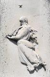 mulher e estrela do detalhe da lápide do 19o século Fotos de Stock Royalty Free