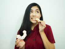 Mulher e filhós asiáticas Fotografia de Stock Royalty Free
