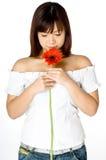 Mulher e flor Imagem de Stock Royalty Free