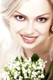 Mulher e flores Fotos de Stock Royalty Free
