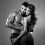 Mulher e homem da paixão Fotos de Stock Royalty Free