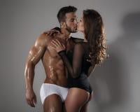 Mulher e homem da paixão foto de stock