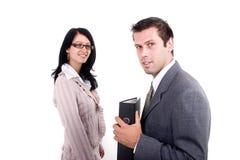 Mulher e homem de negócio Fotografia de Stock Royalty Free