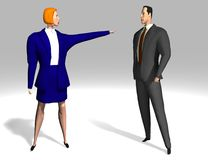 Mulher e homem de negócio Fotos de Stock
