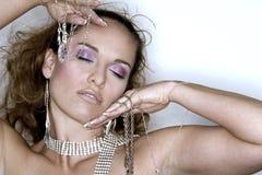 Mulher e jóia Fotos de Stock