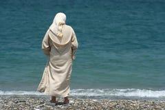 mulher e mar Imagens de Stock Royalty Free