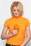 Mulher e paprika Imagem de Stock Royalty Free