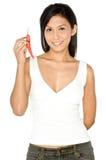 Mulher e pimentões Fotografia de Stock Royalty Free