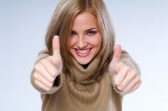 Mulher e sucesso Imagens de Stock Royalty Free