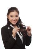 Mulher e vidros fotos de stock royalty free