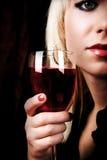Mulher e vinho Imagens de Stock Royalty Free