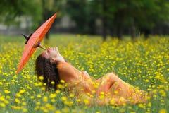 Mulher elegante bonita Foto de Stock