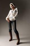 Mulher elegante do inverno Imagem de Stock Royalty Free