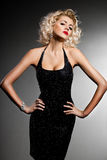 Mulher elegante elegante Fotografia de Stock Royalty Free