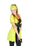 Mulher elegante que levanta no estúdio Fotos de Stock Royalty Free