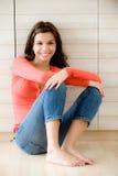 Mulher em casa Imagem de Stock