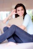Mulher em casa Fotos de Stock Royalty Free