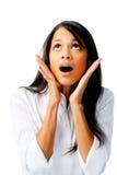 Mulher em choque foto de stock royalty free
