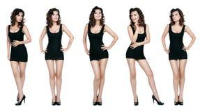 Mulher em cinco cenas Fotos de Stock Royalty Free
