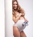 Mulher em grávido Fotos de Stock Royalty Free