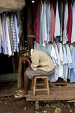 Mulher em Kibera Kenya Fotografia de Stock