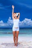 Mulher em Maldives Imagens de Stock