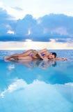 Mulher em Maldives Foto de Stock Royalty Free