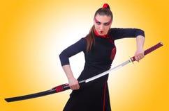 Mulher em marcial japonês Fotos de Stock