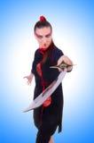 Mulher em marcial japonês Fotografia de Stock