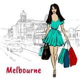 Mulher em Melbourne Austrália Fotografia de Stock