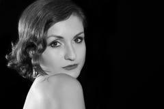 Mulher em preto e branco Imagem de Stock