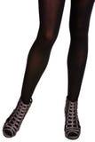Mulher em sandálias do gladiador Imagens de Stock